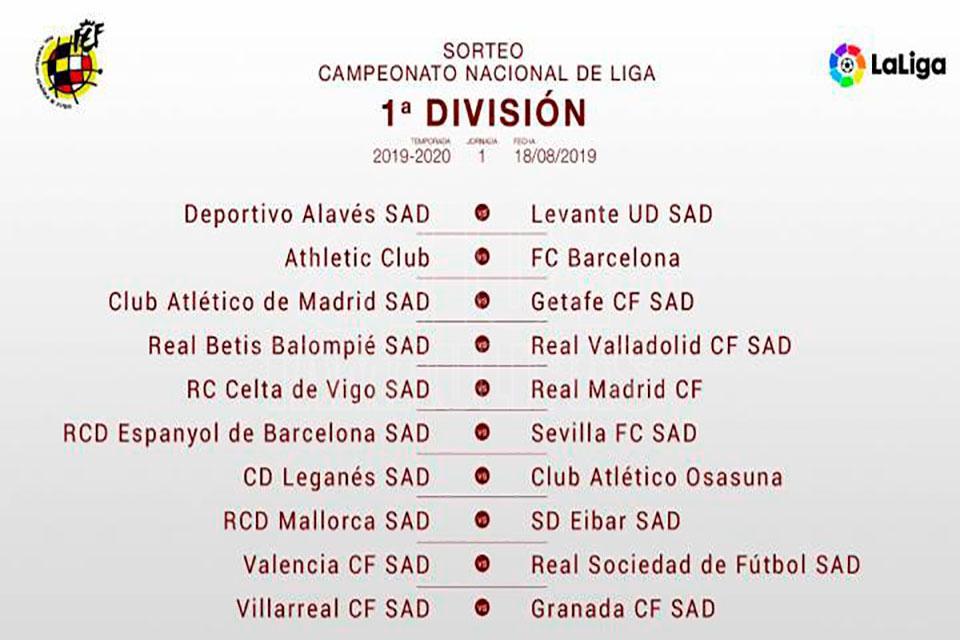 Calendario Agosto 2020 Espana.Hoy Tamaulipas Definen Calendario De Liga Espaniola