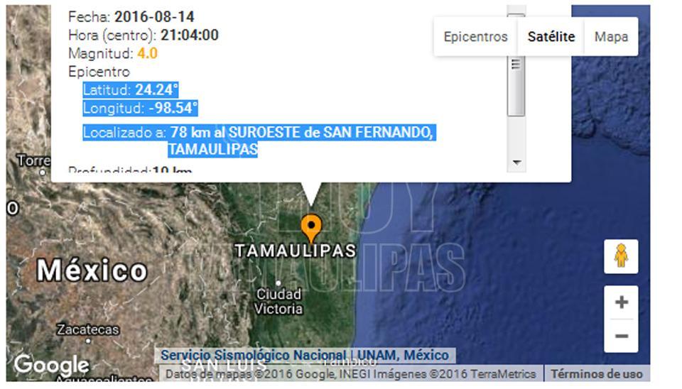 Hoy Tamaulipas Se Registra Sismo Cerca De San Fernando