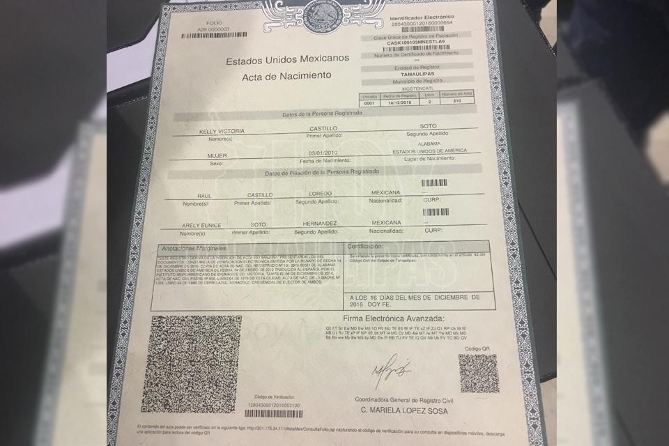 Hoy Tamaulipas - Cambia disenio de actas de nacimiento en Tamaulipas