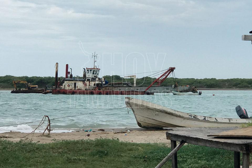 Hoy tamaulipas mantienen trabajo de dragado en el puerto matamoros - Trabajo en el puerto ...