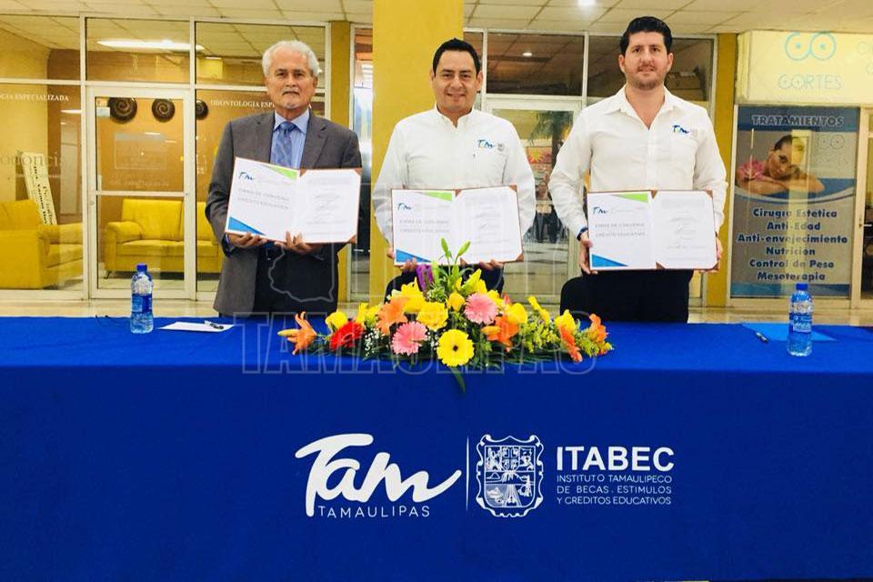 Hoy Tamaulipas - SET-ITABEC firman Convenios con Directivos