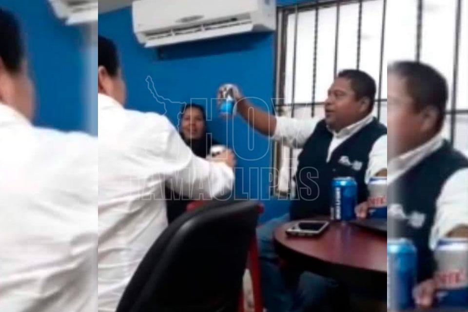 Trabajadores de SEBIEN arman borrachera en oficinas en Altamira - Hoy Tamaulipas